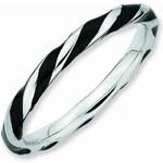 Klenota Stříbrný stočený prsten