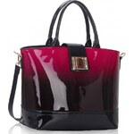 LS London Dámská kabelka Two-Tone vínová, color Vínová