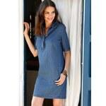 Venca Košilové džínové šaty modrá