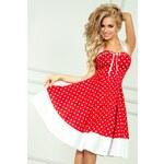 SAF Dámské šaty Pin Up Rock červené