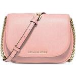 Michael Kors kožená kabelka small Bedford pastel pink