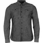 Košile pánská Firetrap Blackseal III Grey Chambray