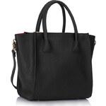 LS fashion LS dámská trojzipová kabelka 61A černá
