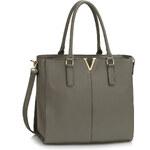 LS fashion dámská kabelka LS00420 šedá