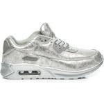 CNB Efektivní stříbrné dámské tenisky, vel. 36
