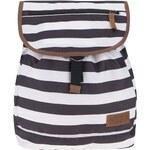 Bílo-černý pruhovaný dámský batoh Eastpak Sharon