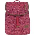 Růžový dámský batoh se vzorem květin Eastpak Sharon