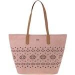 Růžová kabelka s děrovaným vzorem Roxy Now A Days