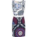 Modro-krémové vzorované šaty Desigual Bianca
