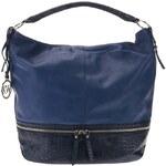 Key West Handbags Tmavě modrá kabelka s ozdobným zipem Key West