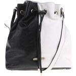 Černo-bílá stahovací kabelka LYDC