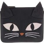 Černá kožená peněženka YOSHI Bruce The Cat