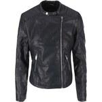 Černá koženková bunda New Look