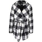 Černo-bílý kostkovaný kabát Haily´s Cabo