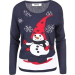 Tmavě modrý svetr se sněhulákem ONLY Snowman
