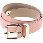 Růžový dámský kožený pásek Tommy Hilfiger Melinda