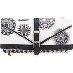 Černo-bílá vzorovaná menší kabelka Desigual Melbourne Geofresh