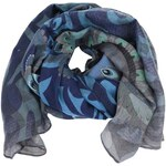 Modrý šátek se vzory Desigual Columbia