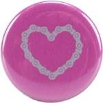 Růžová placka ZOOT Originál Cyklo srdce