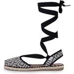 Černo-krémové dámské sandály Toms