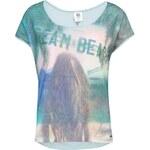 Světle zelené tričko s potiskem Vero Moda Beach Wide