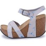 Šedé sandálky na klínku Brakeburn Solent