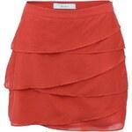 Červená sukně s volánky Skunkfunk Zelmide