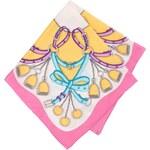 Bílo-růžový vzorovaný šátek Fraas