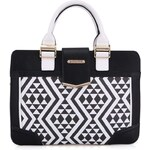 Černo-bílá kabelka s mozaikovým vzorem Anna Smith