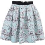 Mentolová vzorovaná sukně Closet
