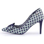 Modré boty na jehlovém podpatku se vzorem Ruby Shoo Jenna