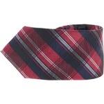Červeno-modrá kostkovaná kravata Portia
