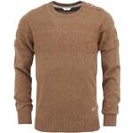 Hnědý svetr s knoflíky na ramenou Bertoni