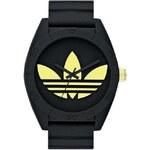 Černé unisex hodinky adidas Originals Santiago