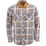 Modro-hnědá pánská kostkovaná košile Jeremiah Redford