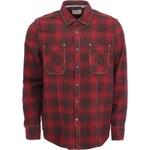 Černo-červená pánská kostkovaná košile Jeremiah