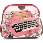 """Bílo-růžová toaletní taška """"psací stroj"""" Disaster Type Write"""