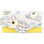 Šedo-žlutá peněženka s květy Disaster