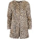 Leopardí kabát z umělé kožešiny YAYA