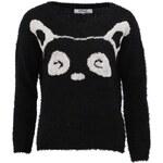 Černý svetr s pandou Only Face