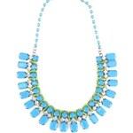 Modro-zelený náhrdelník se třpytivými kamínky Emi