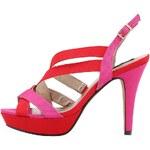 Červeno-růžové lodičky Victoria Delef