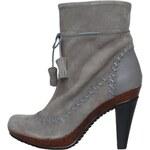Šedé dámské semišové boty na podpatku Scholl