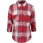 Krémovo-červená kostkovaná košile Dorothy Perkins