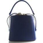 Modrá luxusní kožená kabelka ItalY Patricia modrá