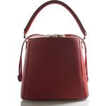 Červená luxusní kožená kabelka ItalY Patricia červená