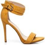 SEASTAR Módní žluté sandály ze semiše 40