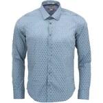Modrozelená vzorovaná košile Dstrezzed Flower Dot