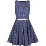 Tmavě modré šaty s bílými puntíky Closet