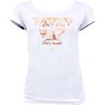 Dámské bílé tričko VOLCANO